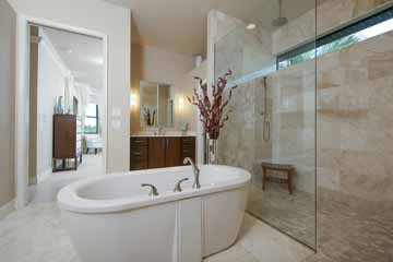Master Bathroom Interior Design in Punta Gorda, FL.